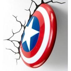Luminária 3D Escudo do Capitão América